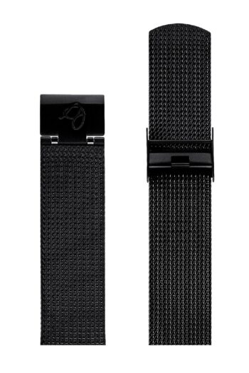 ΜΠΡΑΣΕΛΕ AJ/2010/40mm/BLACK BRUSHED MESH BAND-STAINLESS STEEL BLACK BRUSHED BUCKLE/WIDTH 20mm
