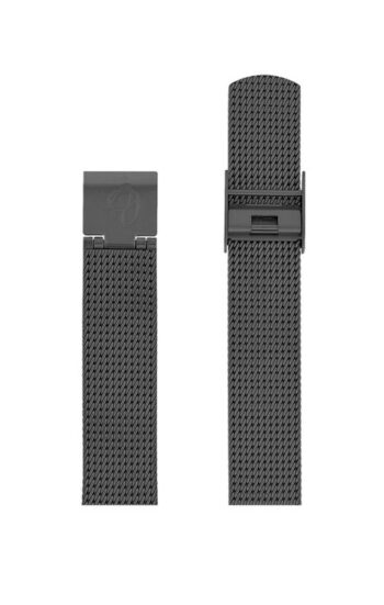 ΜΠΡΑΣΕΛΕ AJ/1612/34mm/GREY BRUSHED MESH BAND-STAINLESS STEEL GREY BRUSHED BUCKLE/WIDTH 16mm