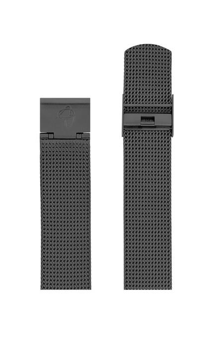 ΜΠΡΑΣΕΛΕ AJ/2012/40mm/GREY BRUSHED MESH BAND-STAINLESS STEEL GREY BRUSHED BUCKLE/WIDTH 20mm