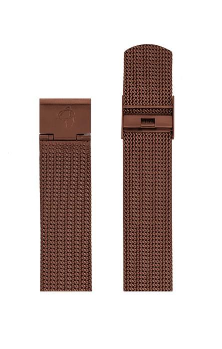 ΜΠΡΑΣΕΛΕ AJ/2013/40mm/COPPER BRUSHED MESH BAND-STAINLESS STEEL COPPER BRUSHED BUCKLE/WIDTH 20mm