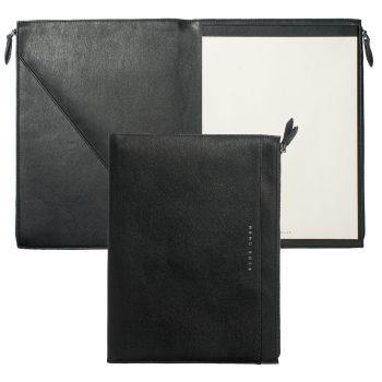 HTF808A/HUGO BOSS/CONFERENCE FOLDER A4 STRIPE SOFT BLACK