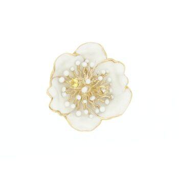 PENDANT/ROBERTO BRAVO/WDHP0014-00/MED FLOWER WHITE ENAMEL