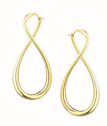 EARRING/MARCELLO PANE/OR424/YELLOW SLV TWIST LINK
