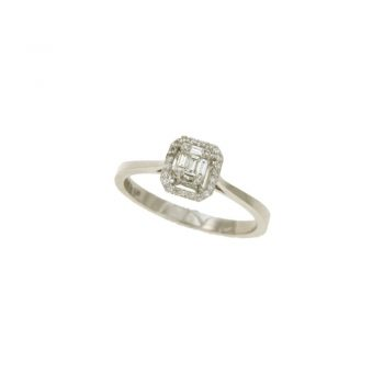 RING/DARG101281-118Z/DAMO-EMERALD CUT DESIGN WITH BAGUETTE BR