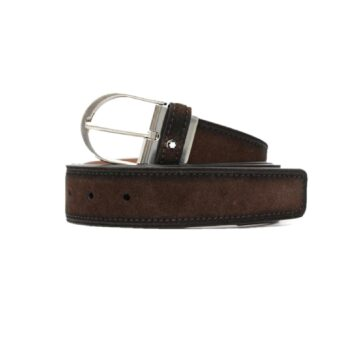 123915/BELT CASUAL-HORS SANTPALCOPIN BS FUM SUEDE BROWN/35mm