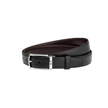 123886/BELT BUSINESS-RECT SH & MA ST ST PIN B SFUMATO LEATHER BURGUNDY/30mm