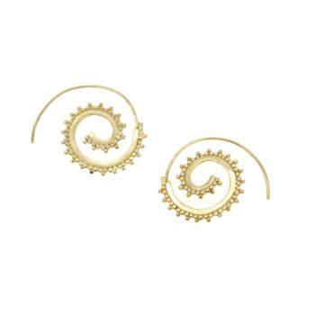 EARRING/GRANES/SPEIRA-CIRCLE 2cm LOUSTRE & GRANES