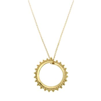 NECKLACE/GRANES/CIRCLE OPEN 2cm LOUSTRE & GRANES/CHAIN ROUND DIAMANTE 42cm