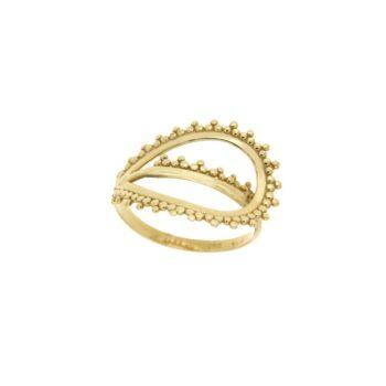 RING/GRANES/DAKRU 2.6*1.8cm LOUSTRE & GRANES