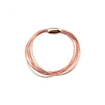 WDNAB051/BRACELET PINK SHINY-9 LINES SPRING