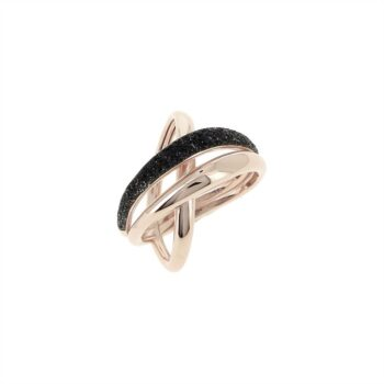 WPLVA1712/M/RING SHINY PINK - 3 LINES - BLACK DUST