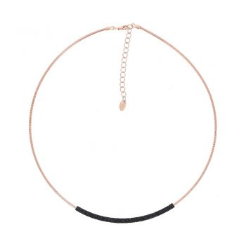 WDNAG179/NECKLACE PINK SHINY/SPRING TUBO POLVERE/BLACK DUST