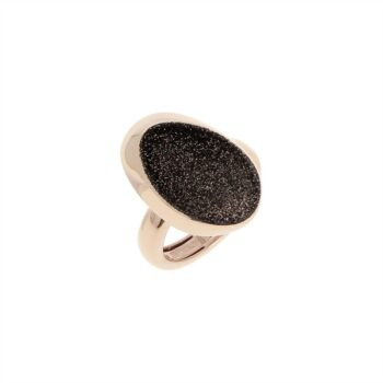 WPLVA1731/M/RING SHINY PINK - OVAL - BROWN DUST