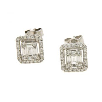 EARRING/DIAMONDGROUP/2G572W8-2/5 SML BAGUETTE-BRILLIANT