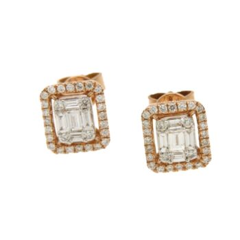 EARRING/DIAMONDGROUP/2G572R8-2/5 SML BAGUETTE-BRILLIANT