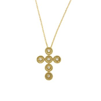 NECKLACE/KOUZOUPI/994003TBB2886E/1 CROSS SATIN - WIRE PLAISIO - 6 BR