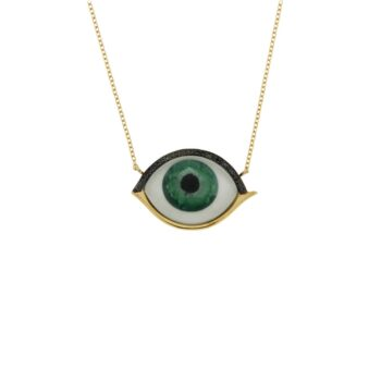 NECKLACE/9.81/MATI GREEN MOP/BLACK DIAMOND