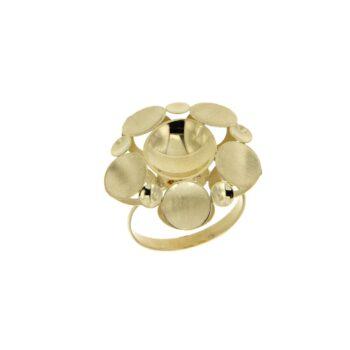 RING/DOUBLE/ROUND/1 LRG LOUSTRE- 5 MED SATINE- 5 SML LOUSTRE
