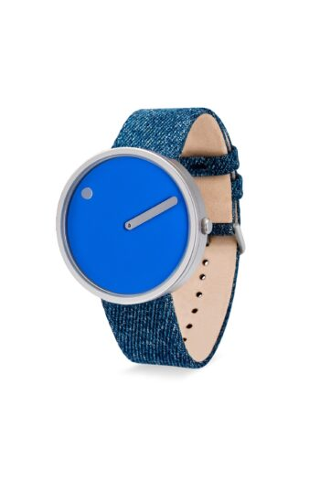 WATCH PICTO/43380-5120MS/40mm/COBOLT BLUE DIAL-MATT STEEL CASE/LIGHT BLUE DENIM STRAP