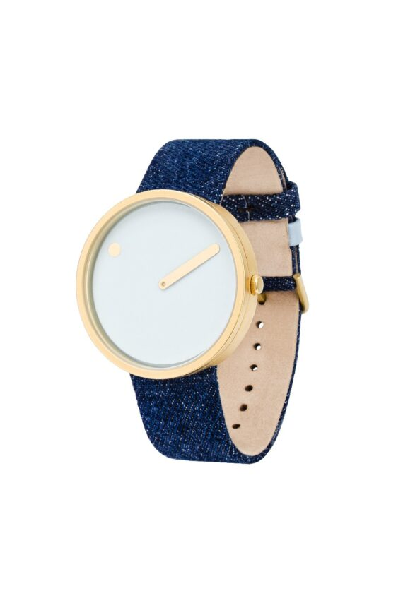 WATCH PICTO/43332-5220MG/40mm/LIGHT BLUE DIAL-MATT IP GOLD BEZEL/DARK BLUE DENIM STRAP