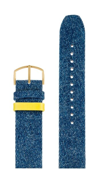 ΛΟΥΡΑΚΙ PICTO/5120MG/40mm/LIGHT BLUE DENIM STRAP-MATT GOLD BUCKLE/WIDTH 20mm