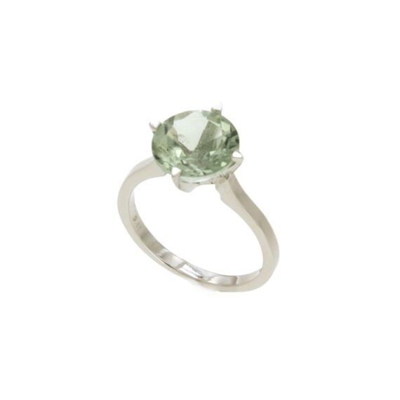 RING/AOR-9.81/SOLITAIRE/LIGHT GREEN AMETHYST