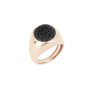 WPLVA1791/M/RING SHINY PINK - OVAL - BLACK DUST