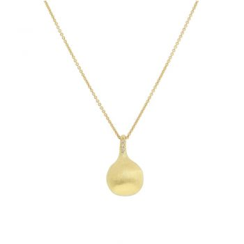 NECKLACE/MARCO BICEGO/AFRICA/CB2493-B/CHAIN WITH 1LRG GOLD BALL & BR/40-45cm