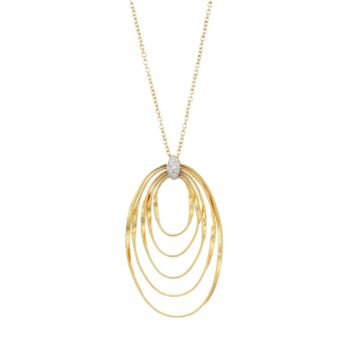 NECKLACE/MARCO BICEGO/MARRAKECH ONDE/CG785-B/3 OVAL LINKS & BR/45cm