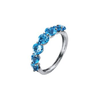 RING/DIAMONDGROUP/1Q674W855-1/7 BLUE TOPAZ HEARTS