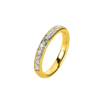 RING/DIAMONDGROUP/1A460W855-3/YELLOW GOLD-SEIRE 17 DIAMONDS
