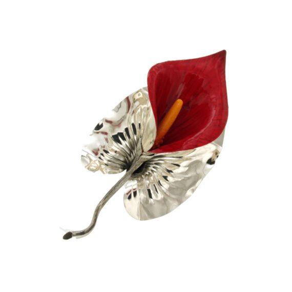 GIRO ART/FCT120/9/MEDIUM RED HAND PAINTED DECORATIVE ARUM LILLY & BOX/15cm
