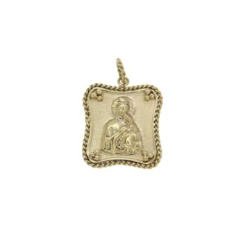 MOTIF/9.81/RELIGION/SQUARE TV1.7*1.5cm-PLAISIO WIRE-PANAGIA