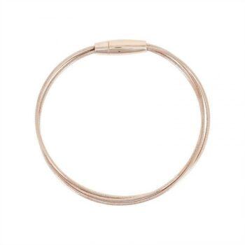WDNAB363/BRACELET PINK SHINY-3 LINES SPRING