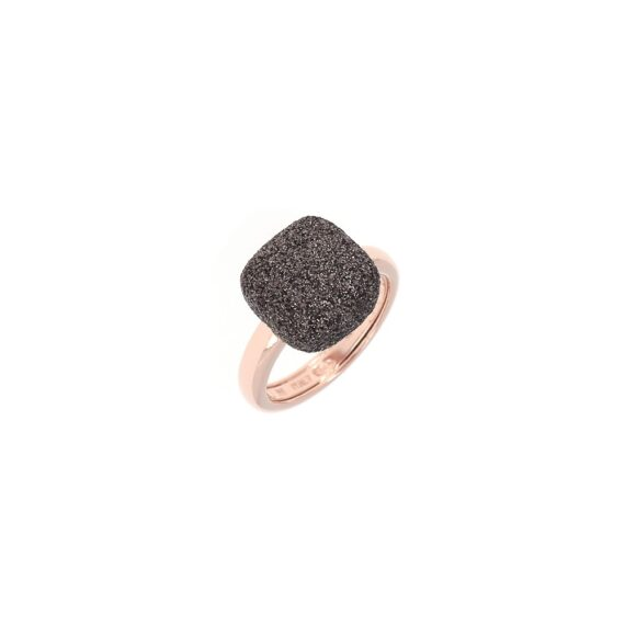 WPLVA1251/M/RING SHINY PINK -SQUARE BROWN DUST