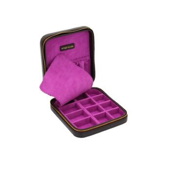 JEWELLERY CASE/26113-3/15*16.5*4cm/ASCOT/DARK BROWN