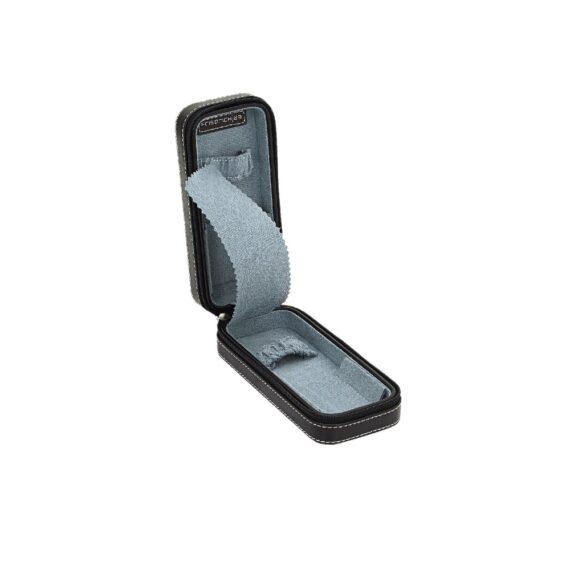 JEWELLERY-ZIP WATCH CASE/20110-2/16*7*4.5cm/BOND SYNTHETIC/BLACK