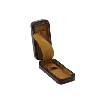 JEWELLERY-ZIP WATCH CASE/20110-3/16*7*4.5cm/BOND SYNTHETIC/BROWN