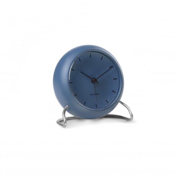WATCH AJ/TABLE CLOCK -ALARM/CITY HALL/43691/STONE BLUE-STONE BLUE CASE