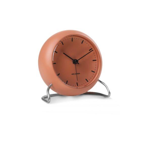 WATCH AJ/TABLE CLOCK -ALARM/CITY HALL/43692/MATT ORANGE-MATT ORANGE CASE