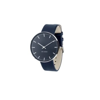 WATCH AJ/OXFORD BLUE-CITY HALL/53206-2004SP/40mm/BLUE DIAL- STAINLESS STEEL CASE /OXFORD BLUE LEATHER STRAP