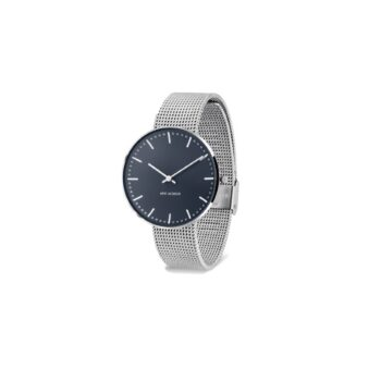 WATCH AJ/OXFORD BLUE-CITY HALL/53206-2008/40mm/BLUE DIAL- STAINLESS STEEL CASE /MATT STEEL MESH BAND