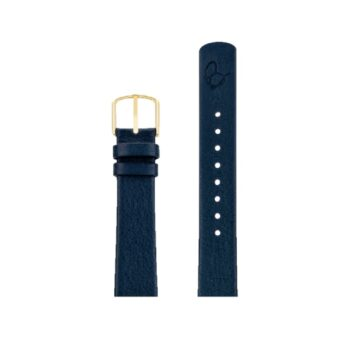 ΛΟΥΡΑΚΙ AJ/1604GP/40mm/OXFORD BLUE LEATHER STRAP-GOLD POLISHED BUCKLE/WIDTH 16mm