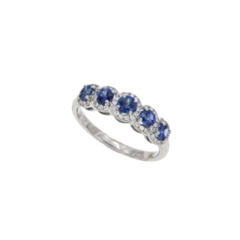 RING/THE BRAND(MARGARITIS)/ST243558/5 SAPPHIRE WITH BR