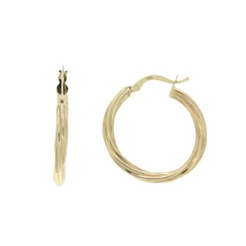 EARRING/112333/5div.1277or/LINK TWIST RIGE LOUSTRE 2.5cm
