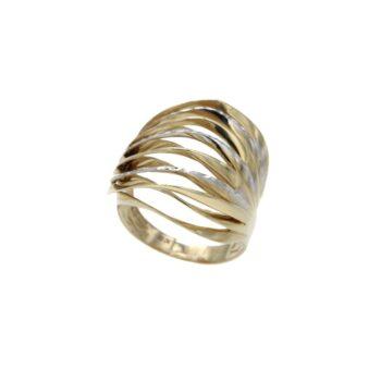 RING/95292/5div264r/KYMATA YELLOW & WHITE