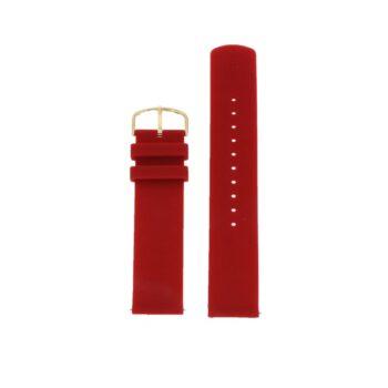 ΜΠΡΑΣΕΛΕ PICTO/7628G/40mm/RUSTY RED SILICONE STRAP-POLISHED GOLD BUCKLE/WIDTH 20mm