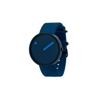 """WATCH PICTO/""""OCEAN GHOST""""/R44001-R001/40mm/NAVY BLUE DIAL- NAVY BLUE CASE /RECYCLED NAVY BLUE STRAP"""