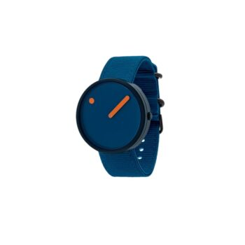 """WATCH PICTO/""""OCEAN GHOST""""/R44002-R003/40mm/DEEP BLUE DIAL-NAVY BLUE CASE/RECYCLED DEEP BLUE STRAP"""