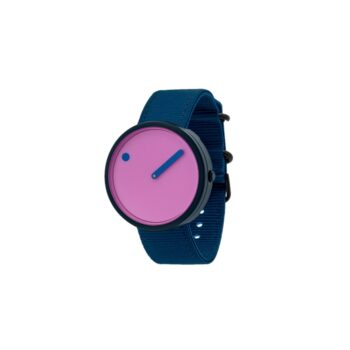 """WATCH PICTO/""""OCEAN GHOST""""/R44005-R001/40mm/PINK REEF DIAL-NAVY BLUE CASE /RECYCLED NAVY BLUE STRAP"""